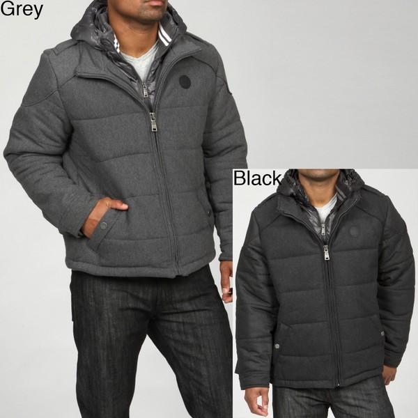 Coogi Men's Wool Blend Puffer Jacket