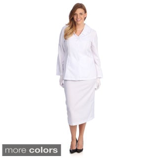 Divine Apparel Women's Plus Size Classic Fashion Skirt Suit
