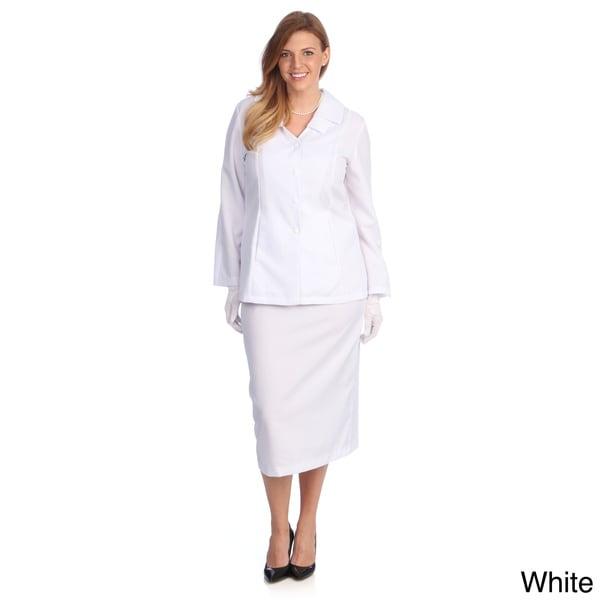 985030d04f1 Shop Divine Apparel Women s Plus Size Classic Fashion Skirt Suit ...