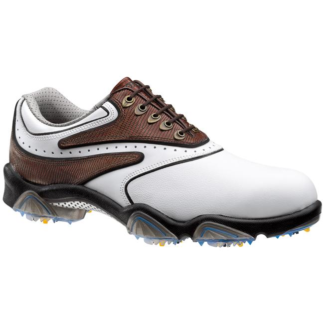 FootJoy Men's SYNR-G Brown/ White Golf Shoes - Thumbnail 0