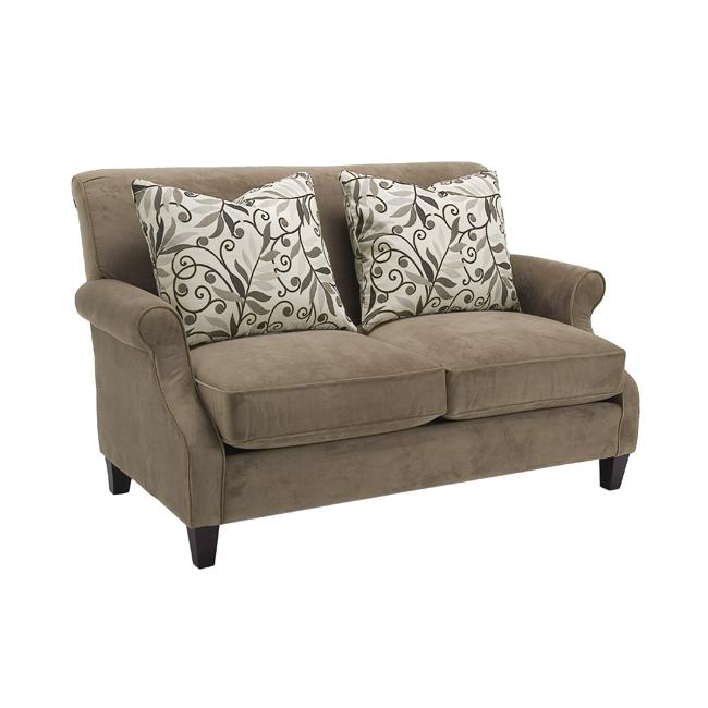 Verona Taupe Fabric Velvet Loveseat Free Shipping Today 13031352