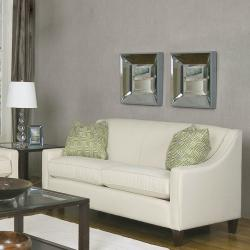 Genoa Ivory Fabric Loveseat