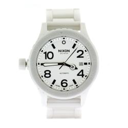 Nixon Men's Ceramic 42-20 Custom 200 White Dial Watch