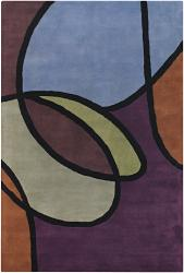 Hand-Tufted Modern Abstract Mandara Wool Rug (7'9 x 10'6) - Thumbnail 1