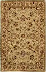 Hand-tufted Mandara Ivory New Zealand Wool Rug (5' x 7'6) - Thumbnail 2