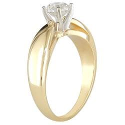 Miadora 14k Gold 1ct TDW Certified Diamond Solitaire Ring (G-H, SI1-SI2) - Thumbnail 1