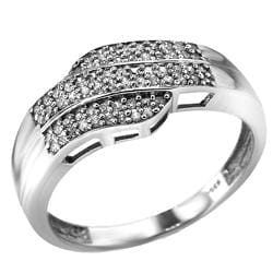 Sterling Silver 1/4ct TDW Diamond Ring (I-J , I2-I3) - Size 7