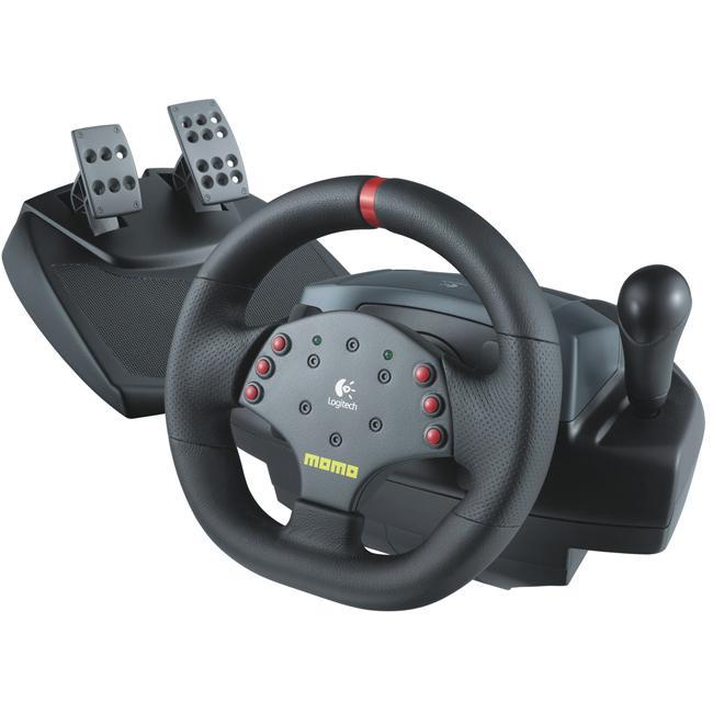 Logitech MOMO Force Feedback Racing Wheel for PC/MAC (Refurbished)