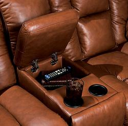 Bonded Leather Power Massage Reclining Sofa