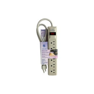 Darice Cream Six-outlet 15A 125VAC 60Hz Power Strip Surge Protector