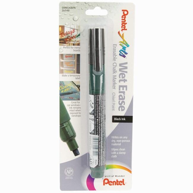 Pentel Wet Erase Black Chalk Marker