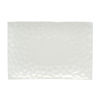 Red Vanilla Marble White Rectangular Platter