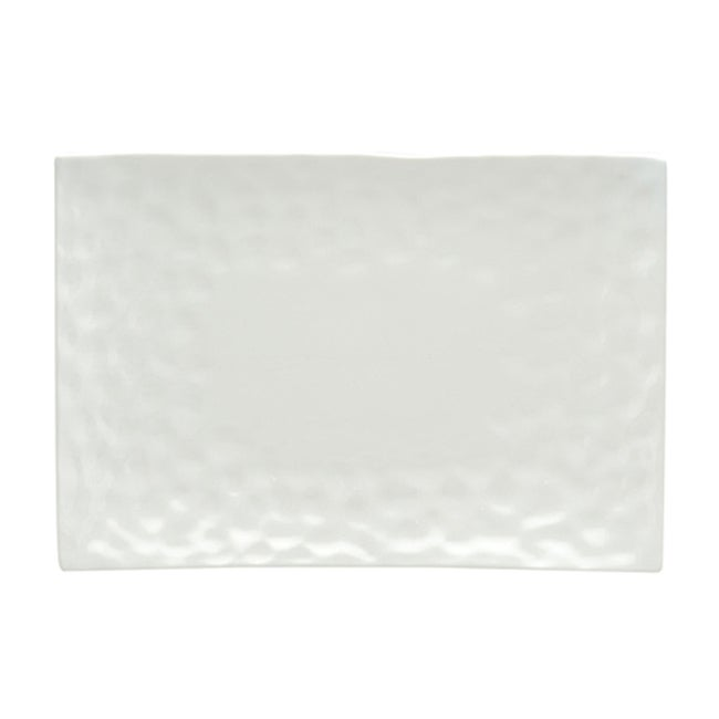 Red Vanilla Marble White Rectangular Platter