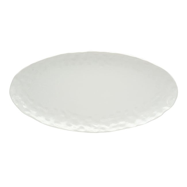Red Vanilla Marble Oval Serving Platter