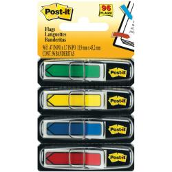 Post-It Assorted Primary Color Arrow Flags (Case of 96)