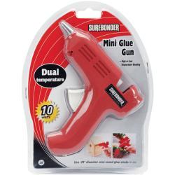 Dual-Temp Red Mini Glue Gun