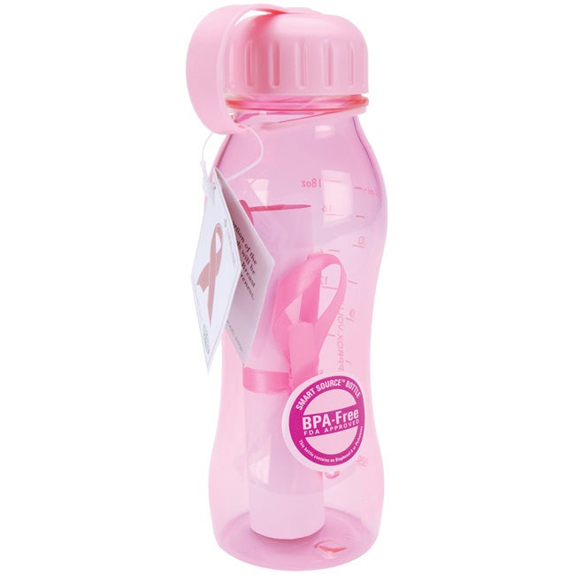 Breast Cancer Awareness Pink 18-oz Water Bottle