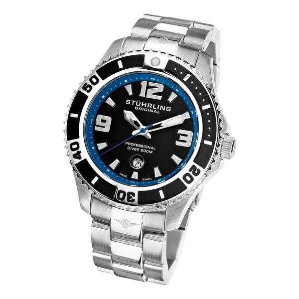 Stuhrling Original Men's Regatta Valiant Diver's Swiss Quartz Watch