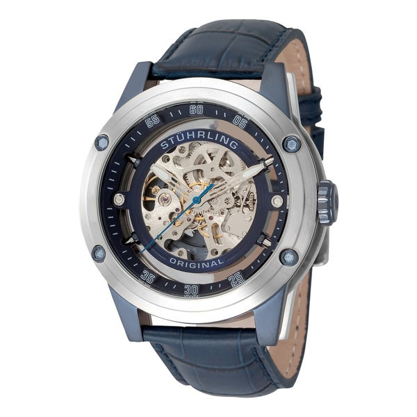 Stuhrling Original Men's Zolara 360 Automatic Skeleton Watch
