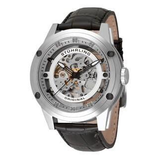 Stuhrling Original Men's Zolara 360 Automatic Skeleton Stainless-Steel Watch