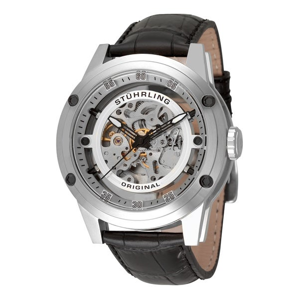 Stuhrling Original Men's Zolara 360 Automatic Skeleton Stainless-Steel Watch