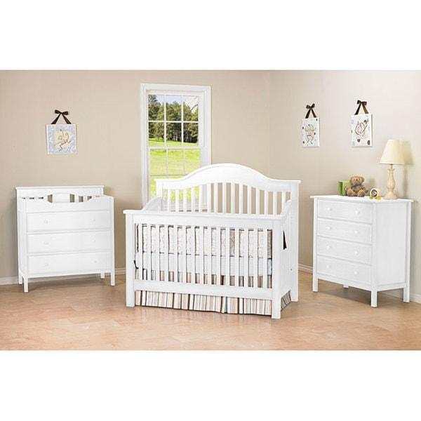 DaVinci Jayden 4-in-1 Crib with Toddler Rail in White