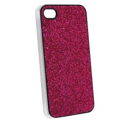 Hot Pink Bling Snap-on Case/ Screen Protector for Apple iPhone 4 - Thumbnail 1