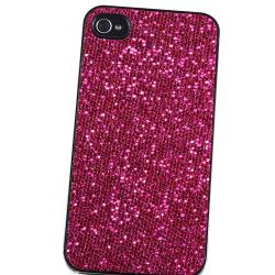 Hot Pink Bling Snap-on Case/ Screen Protector for Apple iPhone 4 - Thumbnail 2