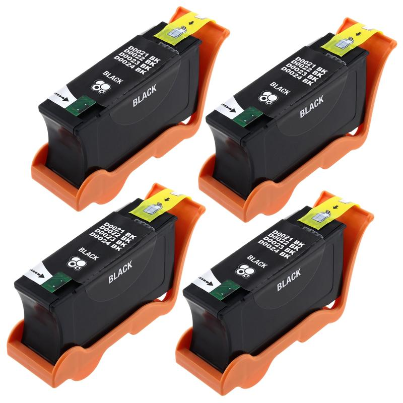 INSTEN Black Ink Cartridge for Dell 24/ V313/ 313W (Pack of 4)