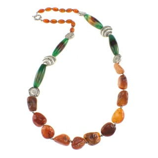 Pearlz Ocean Carnelian and Agate Necklace
