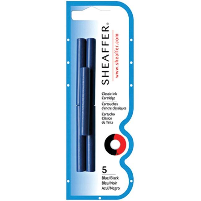 Sheaffer Blue/ Black Ink Cartridges (Pack of 5)