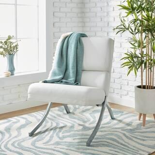 Strick & Bolton Rialto Bonded Leather White Chair
