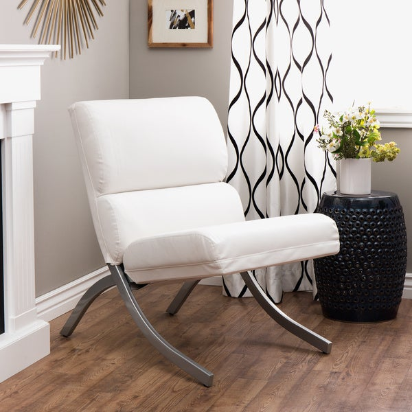 Rialto Bonded Leather White Chair - Free Shipping Today ...