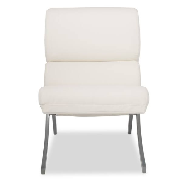 Stupendous Shop Strick Bolton Rialto Bonded Leather White Chair Alphanode Cool Chair Designs And Ideas Alphanodeonline