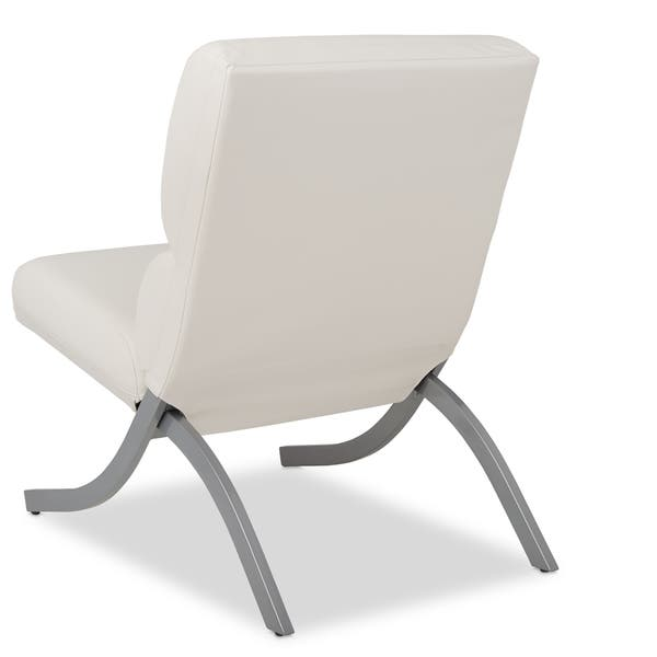 Incredible Shop Strick Bolton Rialto Bonded Leather White Chair Alphanode Cool Chair Designs And Ideas Alphanodeonline