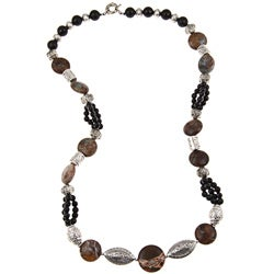 Pearlz Ocean Jasper and Onyx Necklace Jewelry for Womens