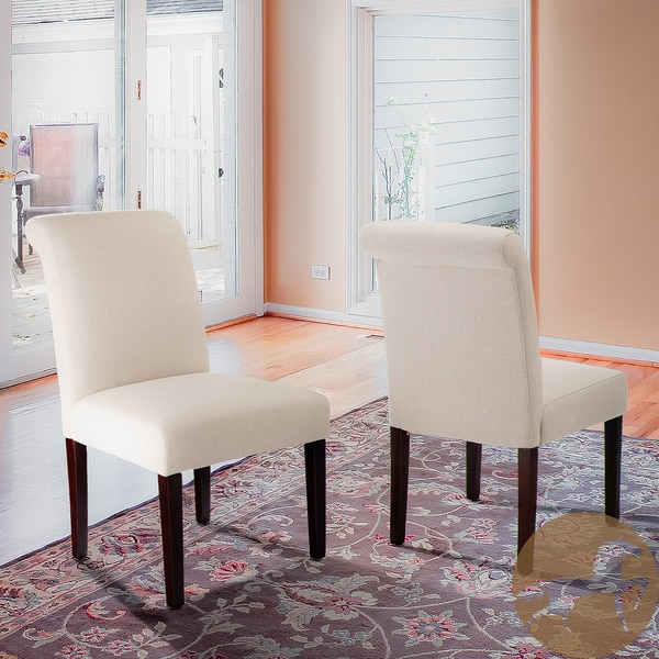 Cream Linen Dining Chairs (Set of 2) by Christopher Knight Home
