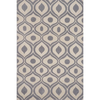 Momeni Bliss Grey Waves Hand-Tufted Rug (8' X 10')
