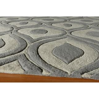 Modern Waves Grey Hand-Tufted Rug (8' x 10')|https://ak1.ostkcdn.com/images/products/6201272/P13849946.jpg?impolicy=medium