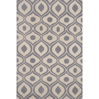 Momeni Bliss Grey Waves Hand-Tufted Rug (3'6 X 5'6)