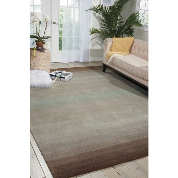 Nourison Casual Hand-tufted Contours Natural Rug - 8' x 10'6