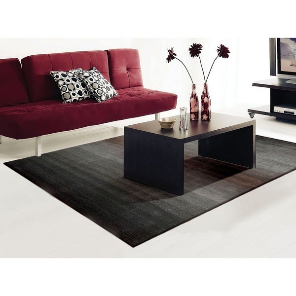 Nourison Hand-tufted Contours Grey Polyester Rug (3'6 x 5'6)