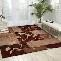 Nourison Hand-tufted Contours Mocca Rug - 7'3 x 9'3