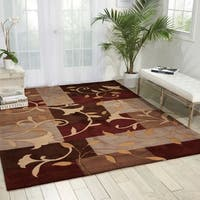 Nourison Hand-Tufted Contours Mocca Area Rug - 3'6 x 5'6
