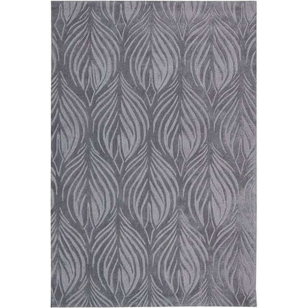 """Nourison Hand-Tufted Contours Slate Polyester Rug (3'6"""" x 5'6"""")"""