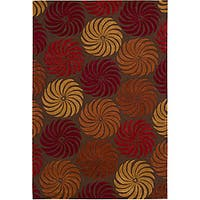 Nourison Hand-Tufted Contours Multicolor Area Rug - 5' x 7'6