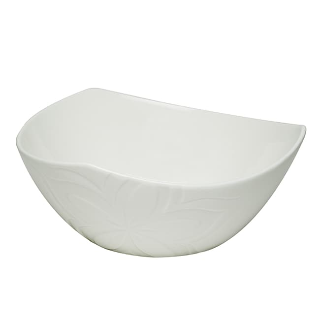 Red Vanilla Clematis White Porcelain Fruit Bowls (Set of 6)