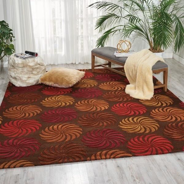 Shop Nourison Hand Tufted Contours Multicolor Floral Rug