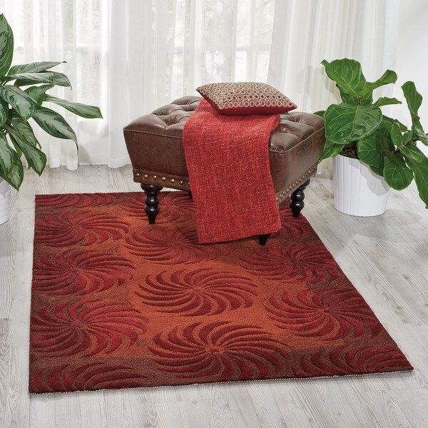 "Nourison Hand-Tufted Contours Flame Area Rug (5' x 7'6"")"