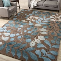 Hand-tufted Mocca Cosmopolitan Rug (5' x 7'6)